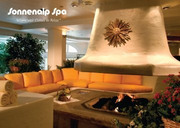 Spa Services Menu (pdf) - Sonnenalp