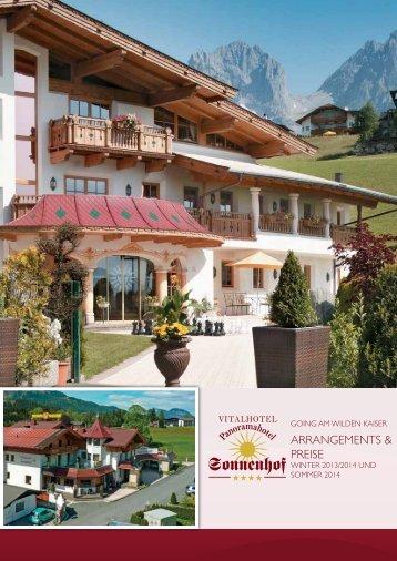 ArrAngements & Preise - Hotel Sonnenhof Going