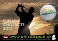 PREISE ANGEBOTE 2013 - Sonnenplateau Mieming & Tirol Mitte