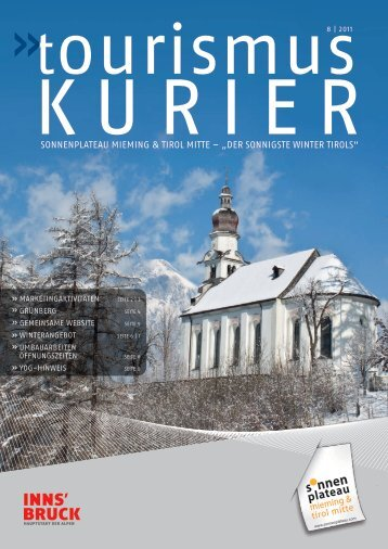 Download Ausgabe 9 / 2011 - Sonnenplateau Mieming & Tirol Mitte
