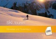 Hinweise & Tourentipps hier zum download - Sonnenplateau ...