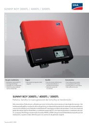 Sunny Boy 3000TL / 4000TL / 5000TL - SMA Solar Technology AG