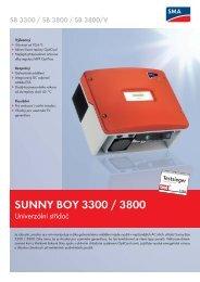 Sunny Boy 3300 / 3800 / 3800/V - Silektro.cz