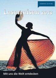 Leserreisen-Katalog 2013.indd - Nordsee-Zeitung
