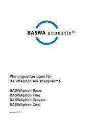 Planungsunterlagen für BASWAphon Akustiksysteme BASWAphon ...