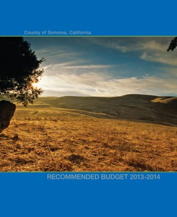 2013-2014 Recommended Budget - County of Sonoma