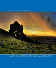 Adopted Budget Schedules 2012-2013 - Sonoma County
