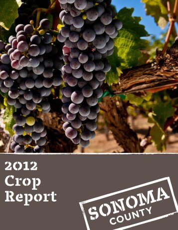 2012 Agricultural Commissioners Crop Report - Sonoma County