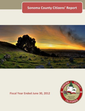 Sonoma County Citizens Report 2012 - County of Sonoma