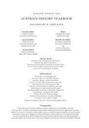Editors' Notes - Center for Austrian Studies - University of Minnesota