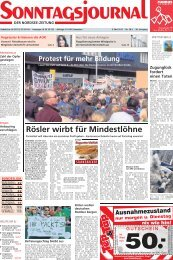 Rösler wirbt für Mindestlöhne - Sonntagsjournal
