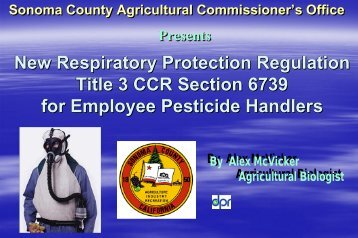 New Respiratory Protection Regulation Title 3 ... - Sonoma County