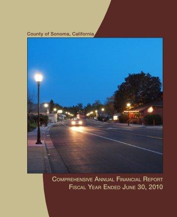 CAFR - Sonoma County
