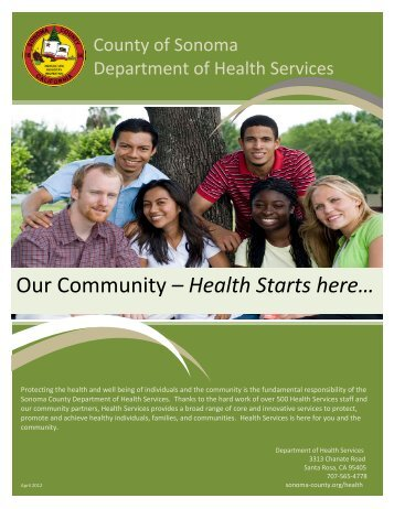 Our Community - Health Starts Here - County of Sonoma