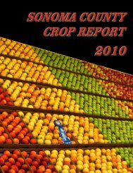 Sonoma County Crop Report 2010