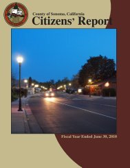 County of Sonoma Citizens' Report Fiscal Year Ended June 30, 2010