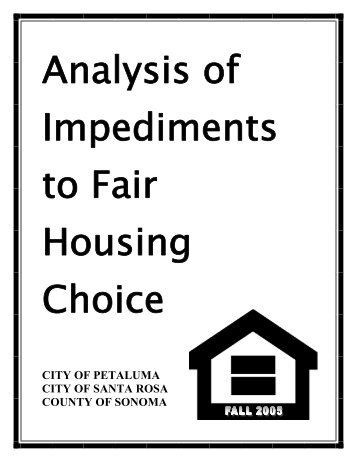 Analysis of Impediments to Fair Housing Choice - Sonoma County