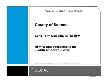 LTD RFP - Executive Summary Segal.PPTX - County of Sonoma