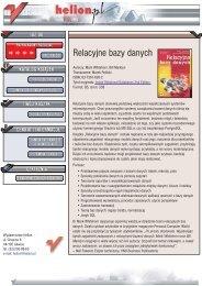 Relacyjne bazy danych - Czytelnia online - Helion