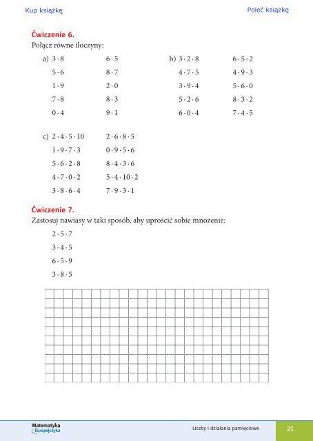 Matematyka Europejczyka. Zeszyt ćwiczeń dla szkoły ... - Helion