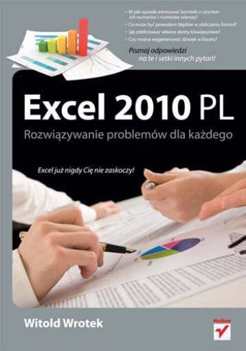 Excel 2010 PL. Rozwiązywanie problemów dla każdego - Czytelnia ...
