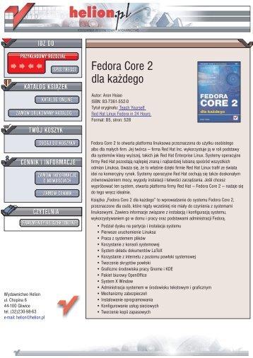 Fedora Core 2 dla każdego - Czytelnia online - Helion