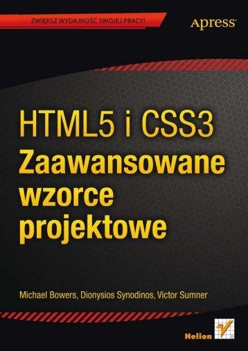 HTML5 i CSS3. Zaawansowane wzorce projektowe - Helion