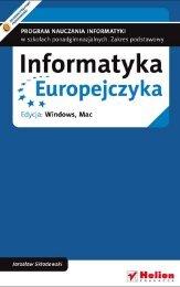 Informatyka Europejczyka. Program nauczania informatyki w ...