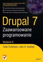 Drupal 7. Zaawansowane programowanie - Czytelnia - Helion