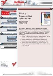 C:\Andrzej\PDF\Hakerzy. Technoanarchiœci ... - Czytelnia - Helion