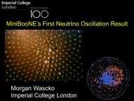 Morgan Wascko Imperial College London ... - BooNE - Fermilab