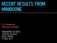 Recent Results from MiniBooNE - BooNE - Fermilab