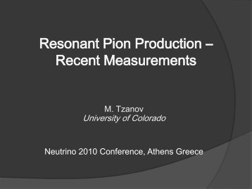Resonant Pion Production - BooNE