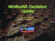 MiniBooNE Oscillation Update - BooNE - Fermilab