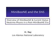 MiniBooNE and the SNS - BooNE - Fermilab