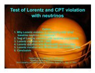 Test of Lorentz and CPT violation with neutrinos - BooNE - Fermilab