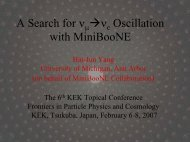 A Search for ν μ - BooNE - Fermilab