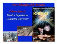 New MiniBooNE Results - BooNE - Fermilab