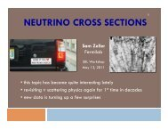 NEUTRINO CROSS SECTIONS - BooNE - Fermilab