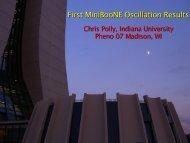 Oscillation Result - BooNE - Fermilab