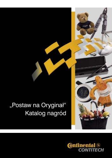"""""""Postaw na Oryginał"""" Katalog nagród - ContiTech"""