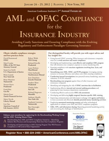 AML and OFAC COMPLIANCE INSURANCE INDUSTRY