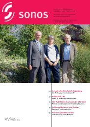 Oktober 12 - sonos - Schweizerischer Verband für das ...