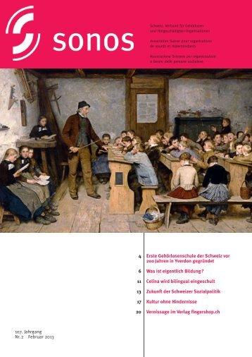 Februar 13 - sonos - Schweizerischer Verband für das ...
