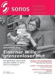 September 13 - sonos - Schweizerischer Verband für das ...