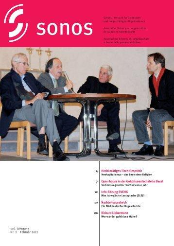 Februar 12 - sonos - Schweizerischer Verband für das ...