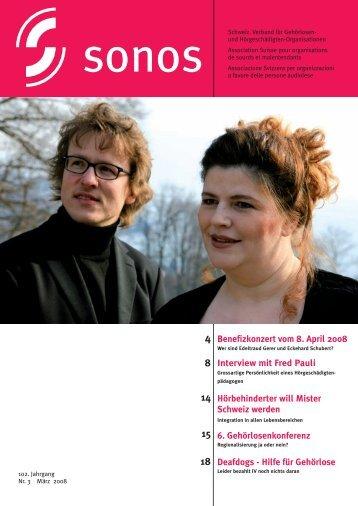 Marz 08 - sonos - Schweizerischer Verband für das Gehörlosenwesen