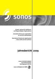 Jahresbericht 2009 - sonos - Schweizerischer Verband für das ...