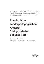Standards im sonderpädagogischen Angebot (obligatorische ...
