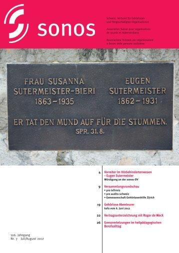 Juli/August 12 - sonos - Schweizerischer Verband für das ...